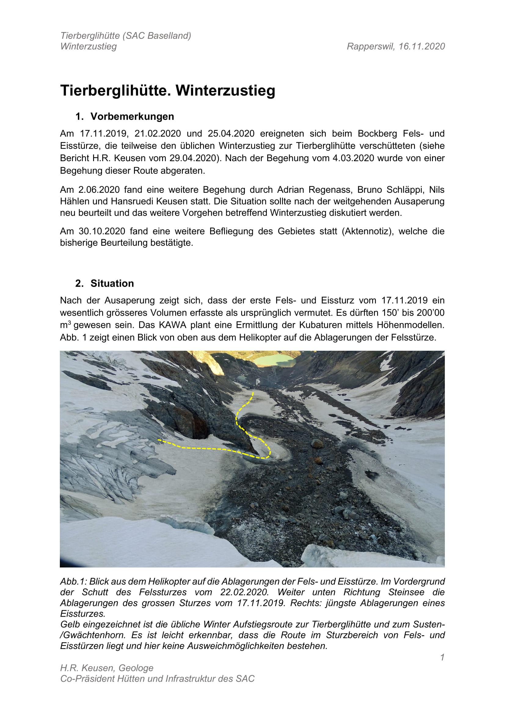 Aktualisierter Bericht vom 16.11.2020
